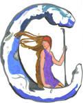 Artemis on the Moon by Korra