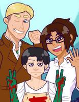 SNK: Scouting Legion Friends by OneChrispy