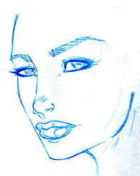 face sketch by shortymcgoo1985