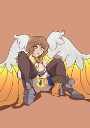 Furia Unwinds After A Match by MorriLeFay