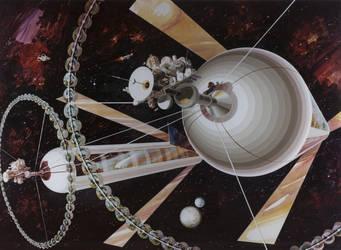 Spacecolony1 by Kodai-Okuda