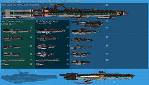 JDF Ship comparison chart Saturn Forces by Kodai-Okuda