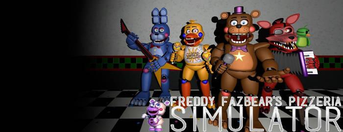 FreddyFazbear's Pizza Simulator Desktop Background by nightmarefoxypirate0
