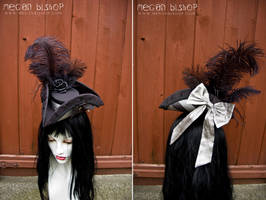 Black x Silver Mini Tricorn by apatico