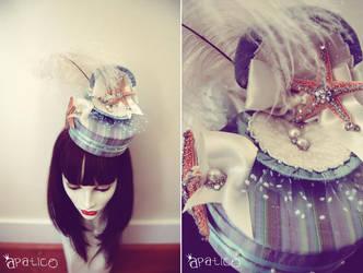 Seashell Clam Pillbox Hat by apatico