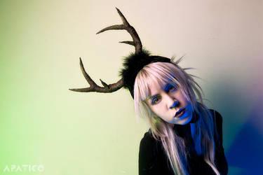 Deer Antlers Headdress by apatico