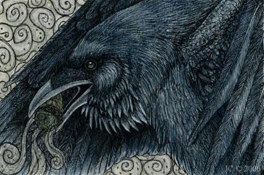 Raven's Blessing by SageKorppi
