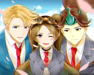 Alucard, Layla, Zilong from Mobile Legends by arnoworks