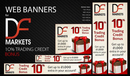 DF Markets - Web Banners by Jambazov