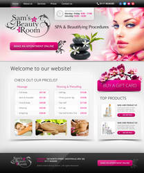 Sam's Beauty Room - Logo / Website Design by Jambazov