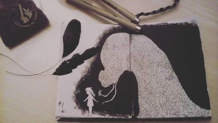 Yesterday's Inktober #11 by EleLibe