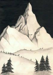 Rock mountain by EleLibe
