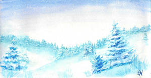 Winter Snow Landscape by EleLibe