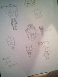 Invader Zim doodles by 0-Toxic-ACE-0
