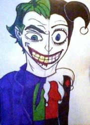 Joker/Harley half n half by 0-Toxic-ACE-0