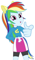Rainbow Dash Pointing At You Vector by GreenMachine987