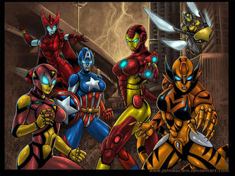 Iron Avengers by johnbecaro by singory