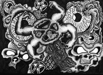 Skulls and Eyes by Undastench