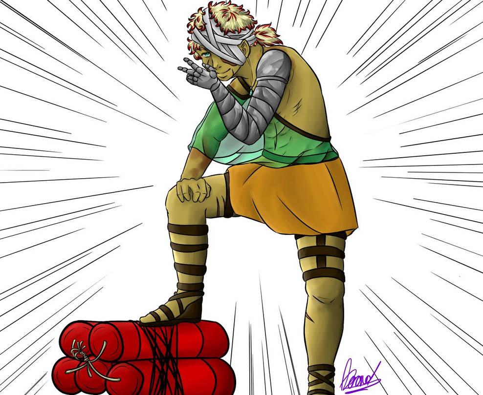 Soan (OC) doing some king of jojo pose by Coeur2Verre