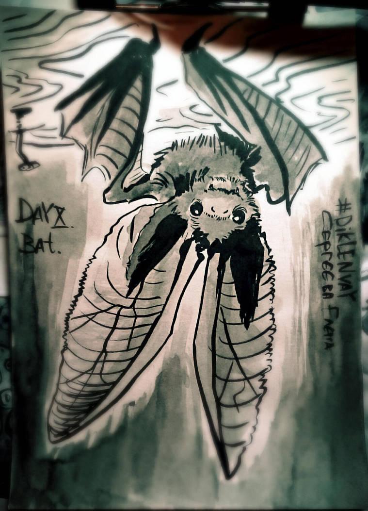 Inktober Day 10_Bat by Dik-LEN-vaY