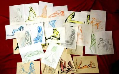Sketches heap by Dik-LEN-vaY