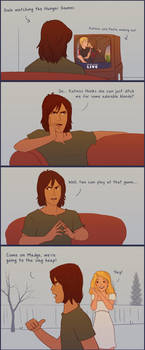 Gale Watches the Hunger Games by julvett
