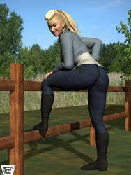 Ramona Lee Sosa On The Fence by ImfamousE