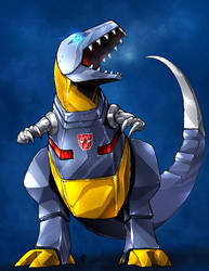 TFG1 - Grimlock In color. Woo. by BHS-ArchetypeRex