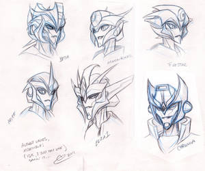 TFP Design Autobot Femme Faces by BHS-ArchetypeRex