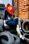 Sarah in Tyres by WryTerra