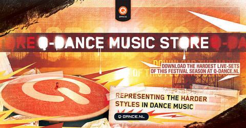 Q-dance Music Store Banner by ruudvaneijk