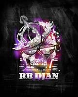RB Djan Skull Artwork by ruudvaneijk