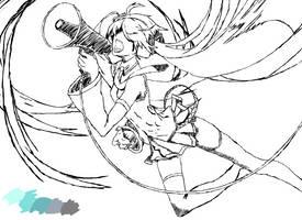 Sketch Hatsune Miku by Ijsklontjeee