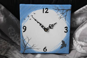 Clock in blue and silver by CurrentlyLoading