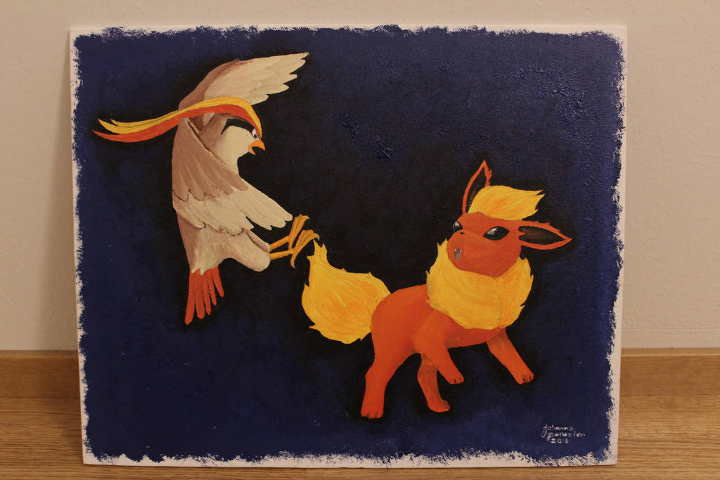 Pidgeot vs Flareon by CurrentlyLoading