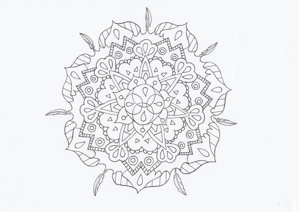 Feather mandala by CurrentlyLoading