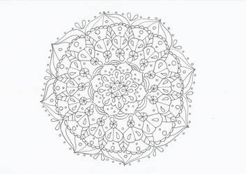 Flowery mandala by CurrentlyLoading