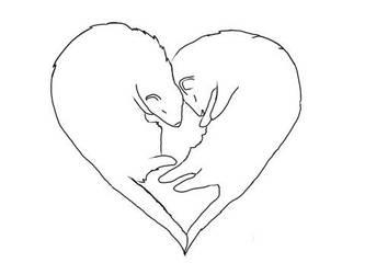 Ferret Love Lineart by Mastaria