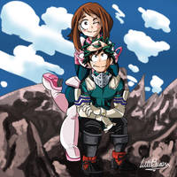 My Hero Academia- Deku and Uravity by LittleSween
