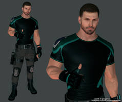 Chris Redfield Updated Work in Progress by LitoPerezito