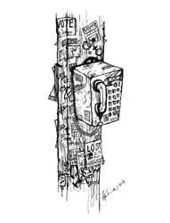 Grimey Payphone by morbid-morsel
