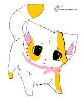 sherri's pet kitty - ribbon by akarifan25