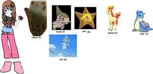 mlp pokemon trainer - Sherri's pokemon team by akarifan25