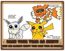 team cutetail as shiny pokemon by akarifan25