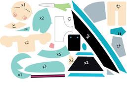 Miku Plushie Pattern attempt 1 by Mokulen22