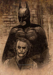 Batman versus Joker by aaronwty