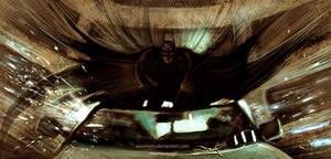 Dark Knight - Art of Landing by aaronwty