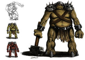 Dungeon Troll concept by aaronwty