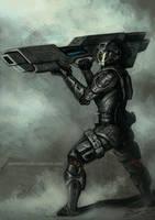 Bazooka Soldier by aaronwty