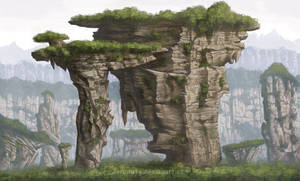 Rock Mountain concept by aaronwty